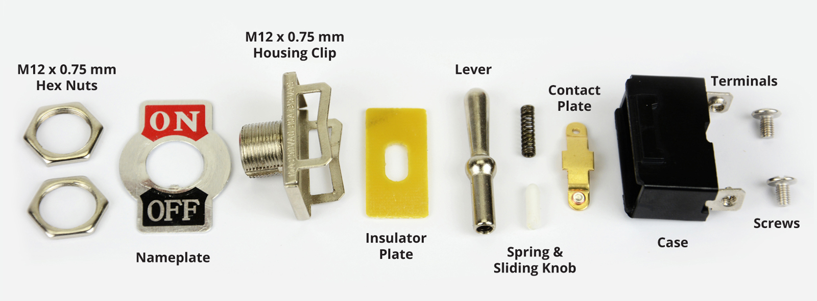 Toggle Switch Exploded View