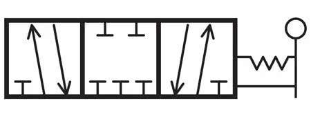 TEMCo Pneumatic Manual Control Valve Diagram