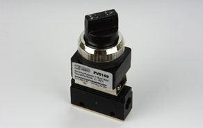 TEMCo Pneumatic Manual Control Valve Latching Rotary Knob