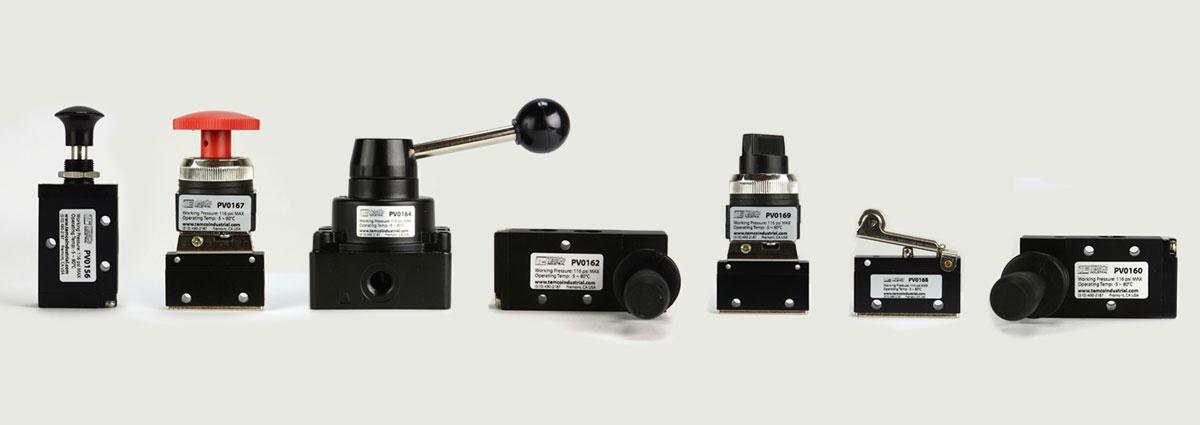 TEMCo Pneumatic Manual Control Valves