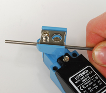 Adjustable rod arm limit switch